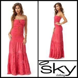 Sky Clothing 💕 Oresti crochet maxi dress